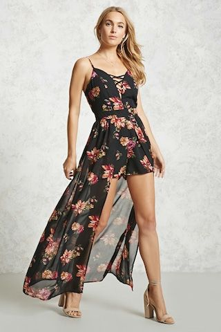 ae65f92893c Floral Maxi Skort Romper | Fashion -Hair -Shoes & Jewels in 2019 ...
