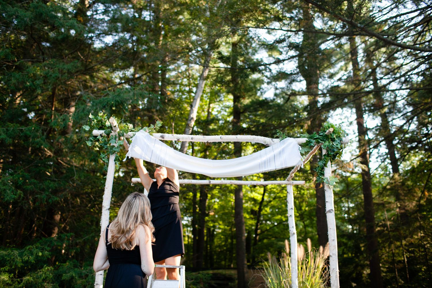 Chuppah Preparations By Events Jackie M At Look Memorial Park Wedding Photos Boston New England Photographer Jen Ing Photography