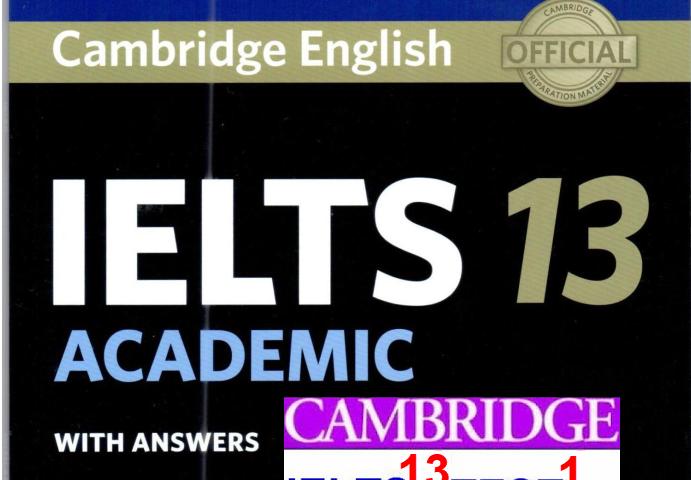 Cambridge IELTS 13, Listening Test 1 (Questions, Answers