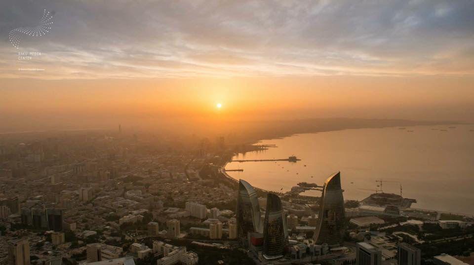 Good Morning Baku Motherland Baku Caspian Sea