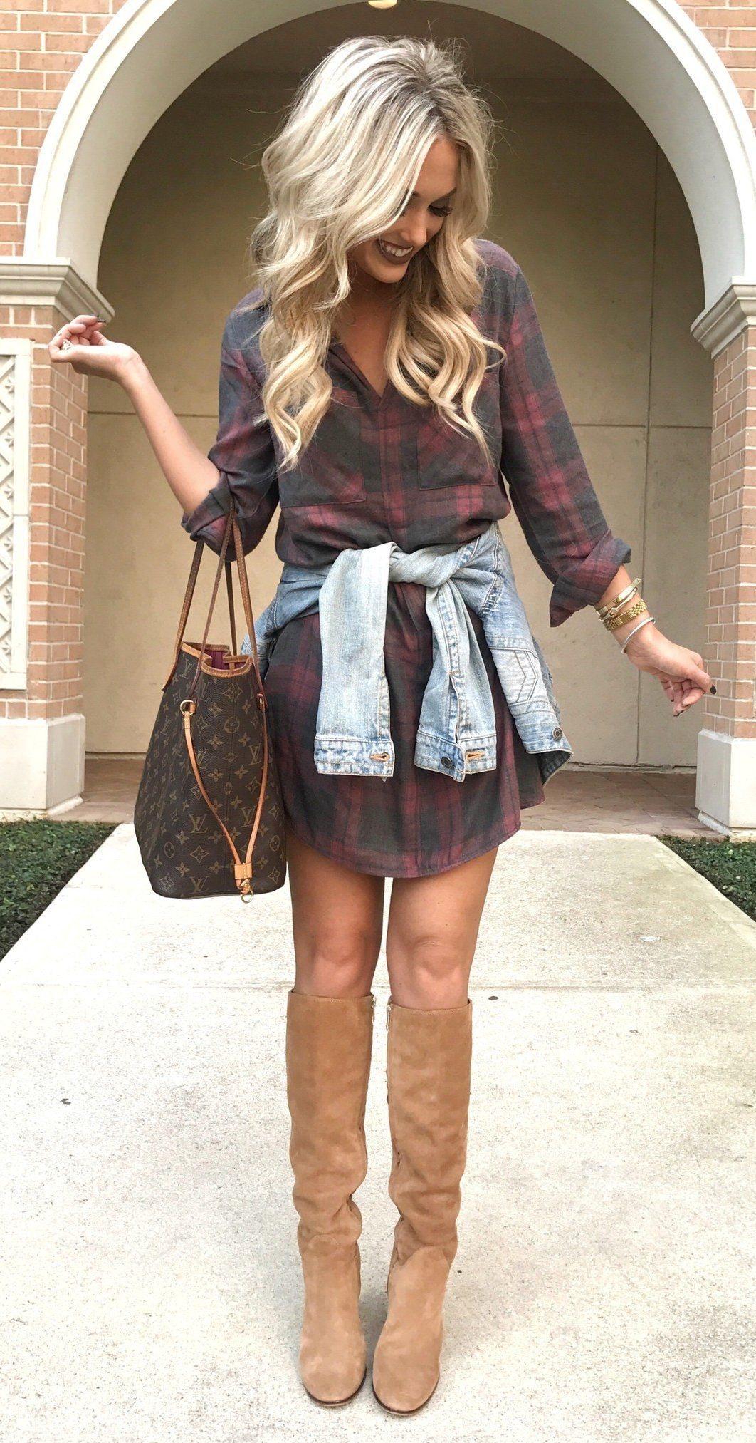 Flannel dress for women  fall outfits womenus black and red plaid buttonup longsleeved