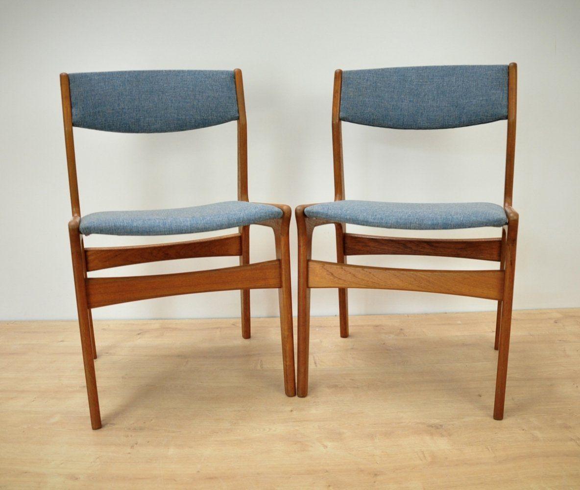 For Sale Pair Of Mid Century Danish Teak Dining Chairs From Nova 1960s Teak Dining Chairs Dining Chairs Chair