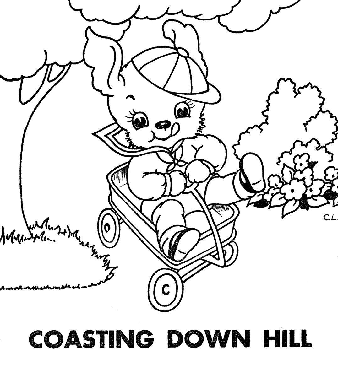 coastingdownhill.jpg 1,076×1,169 pixels | Embroidery | Pinterest