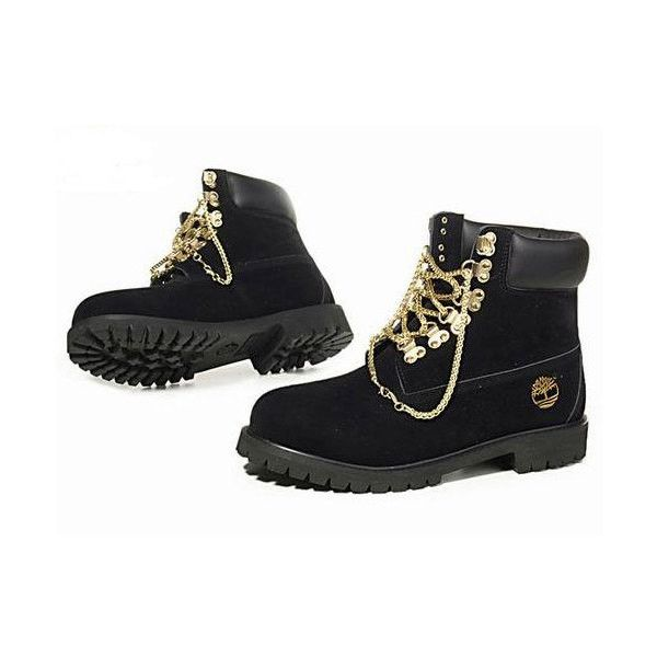 Moderador Anónimo prometedor  Gold Chain Timberlands ($250) ❤ liked on Polyvore featuring shoes, boots,  black and gold studded… | Timberland boots black, Timberland boots women,  Timberland boots