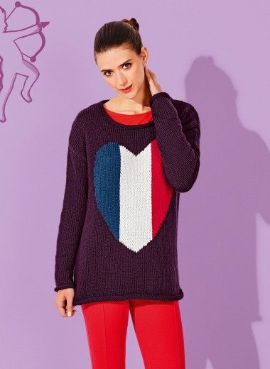 Mag. 181 - #16 Roll-edge heart sweater | Paris/London Collection ...