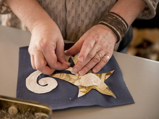 This star-themes quilt block was inspired by NASA  Astronaut Karen Nyberg. See how she made a quilt block in space!