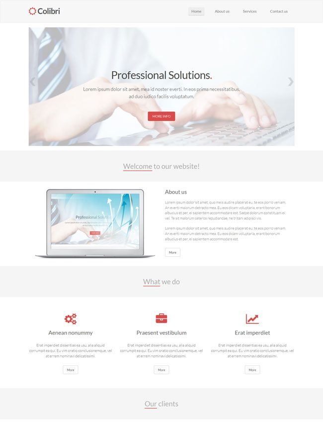 Colibri is a free bootstrap html5 template for business websites colibri is a free bootstrap html5 template for business websites cheaphphosting