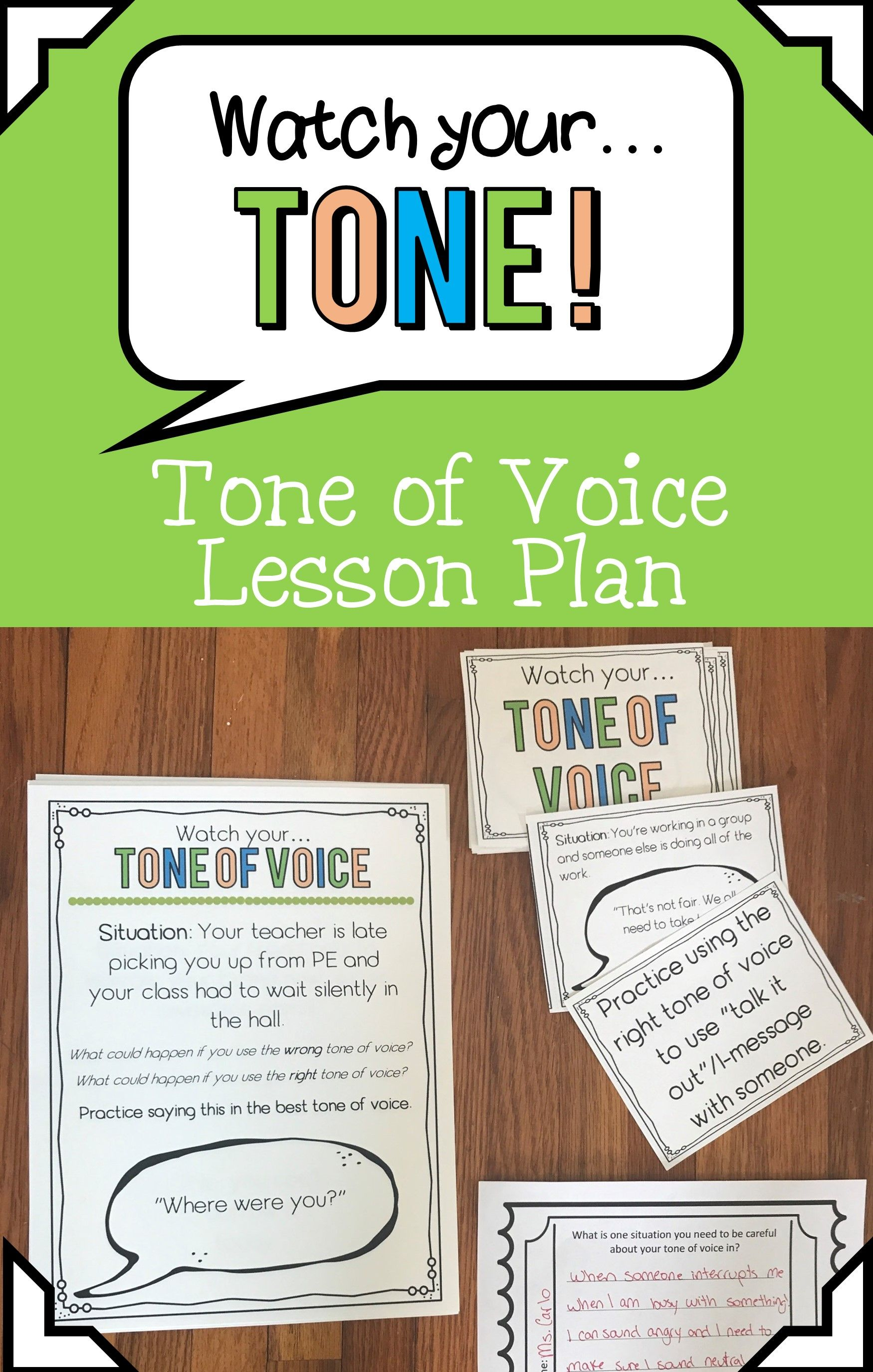 Tone Of Voice Lesson And Activities With Images