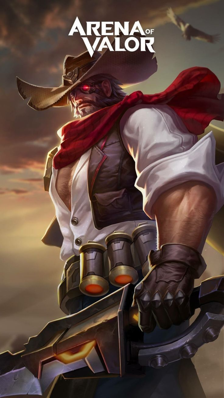 Ryoma Gunslinger Skin Aov Arena Of Valor Wallpapers Pinterest Mobile Legends Game Character And Game Art