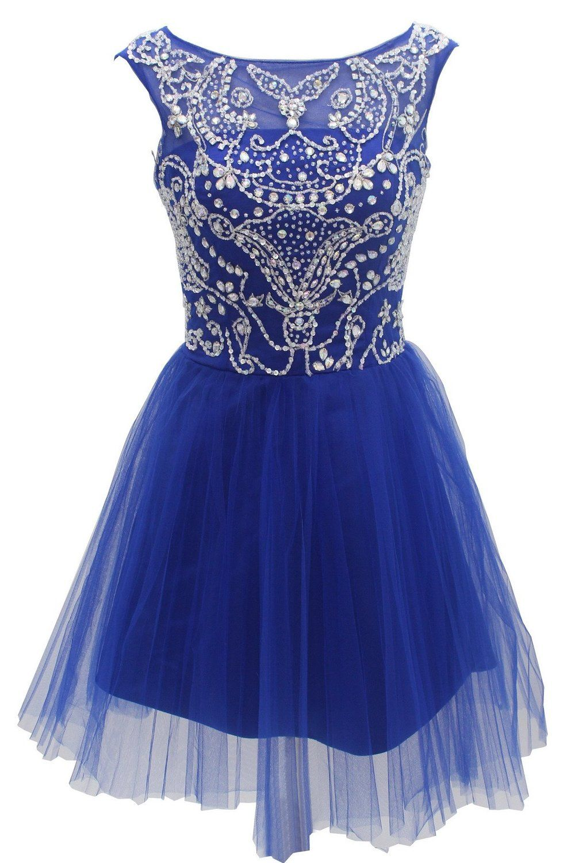 Amazon dressystar short blue prom evening prom dresses