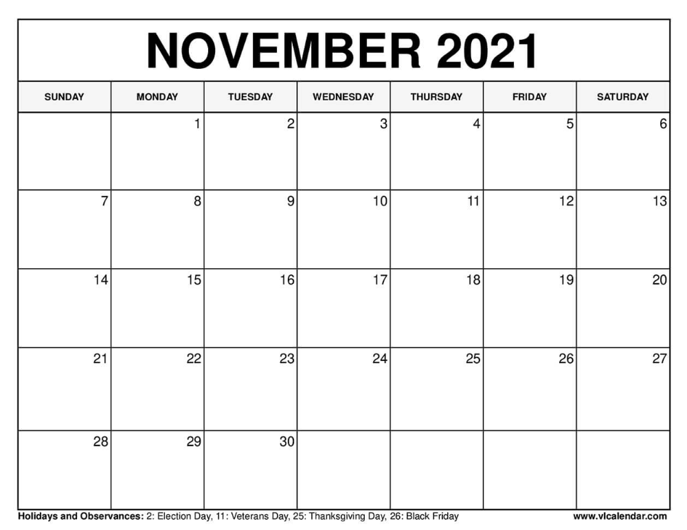 November 2021 Calendar In 2020 Calendar For April December Calendar Calendar