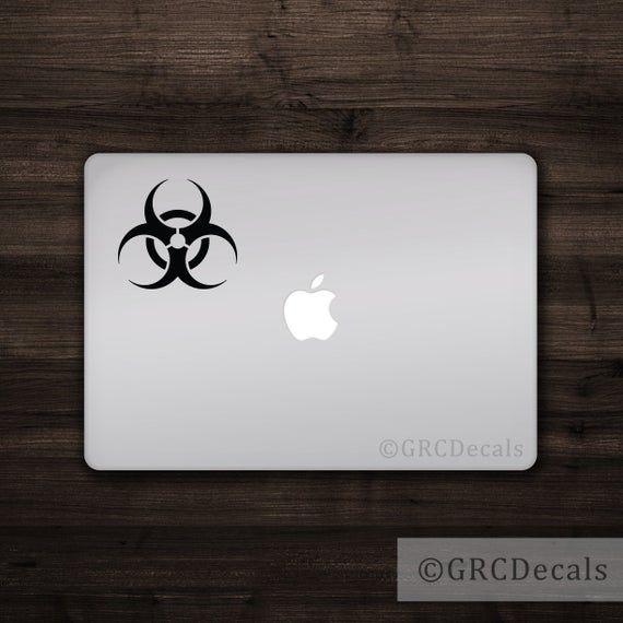 Biohazard  Mac Apple Logo Cover Laptop Vinyl Decal Sticker | Etsy