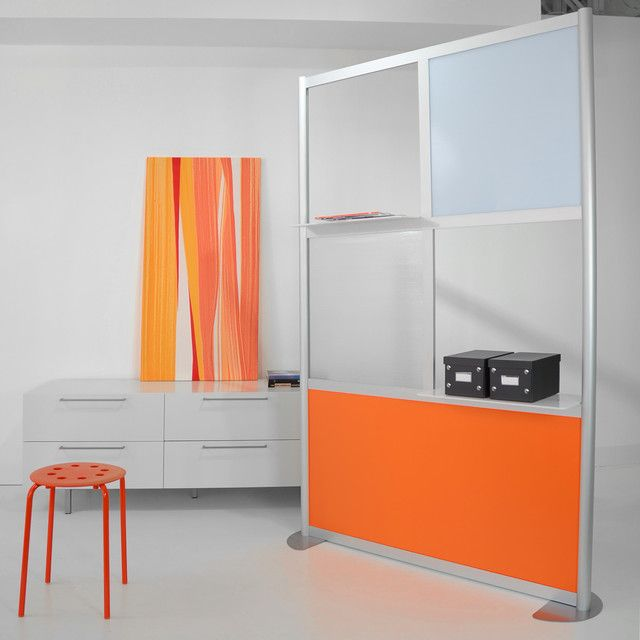 Great Acrylic Room Divider 4 Modern Room Divider White And Orange