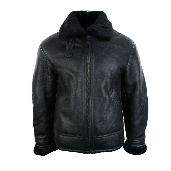 On behalf of online shopping convenience specifically arrange quality genuine leather jackets. Mens B3 Style Bomber Leather Aviator Flying Pilot Jacket Black within affordable prices for sale.  http://www.celebsclass.com/product/mens-b3-style-bomber-leather-aviator-flying-pilot-jacket-black/