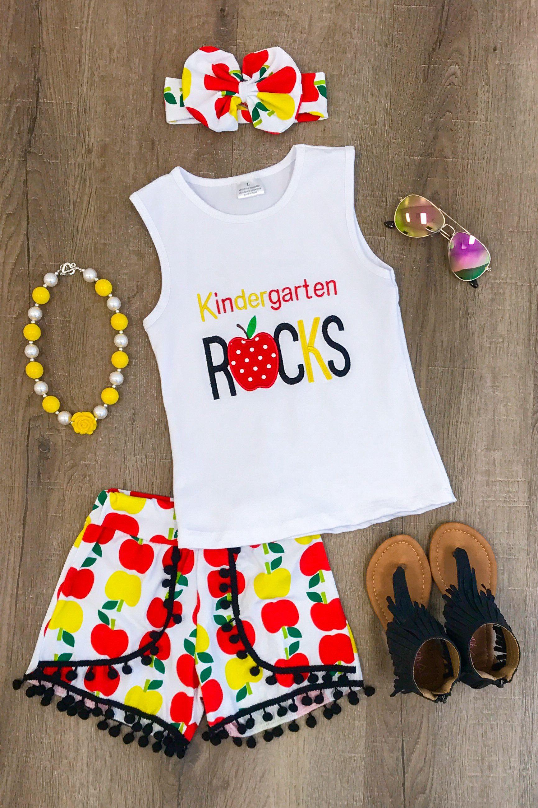 b44f38a90cee SHORT SET- Kindergarten Rocks | Boutique Outfits | Baby kids clothes ...