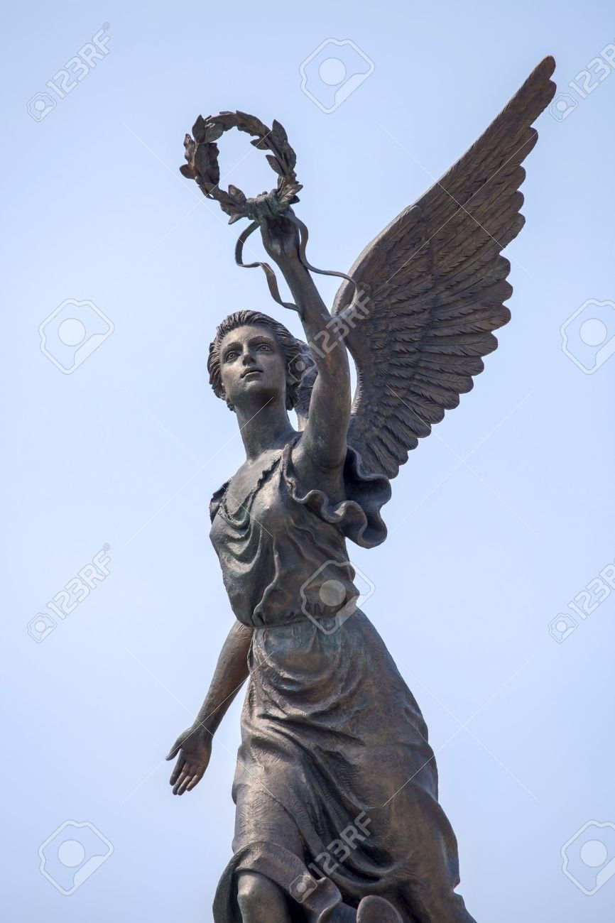 Part Of Monument To The Goddess Of Victory Nike In Kharkov Against Stock Photo Picture And Royalty Free Image Pic 2 Photo Libre Image Libre De Droit Photos