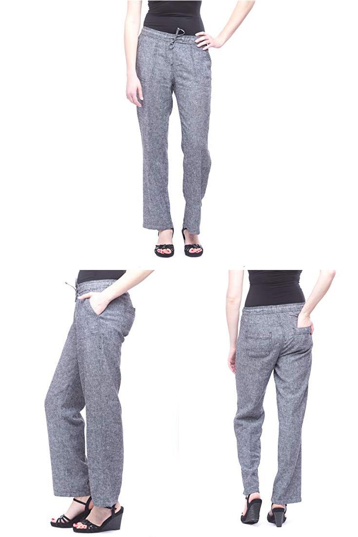 Alki I Missy Women S Wide Bottom Linen Pants With Pockets Womens Black Linen Pants Women Linen Pants Women Womens Wide Leg Linen Pants Womens Black Linen Pants [ 1102 x 735 Pixel ]