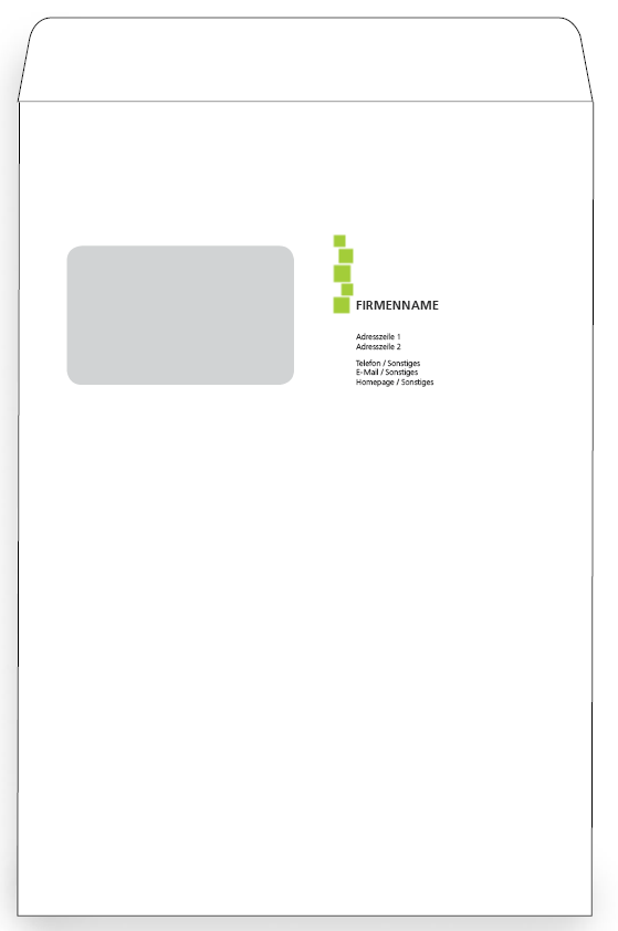 Briefumschlag Vorlagen Von Onlineprintxxl Briefumschlag