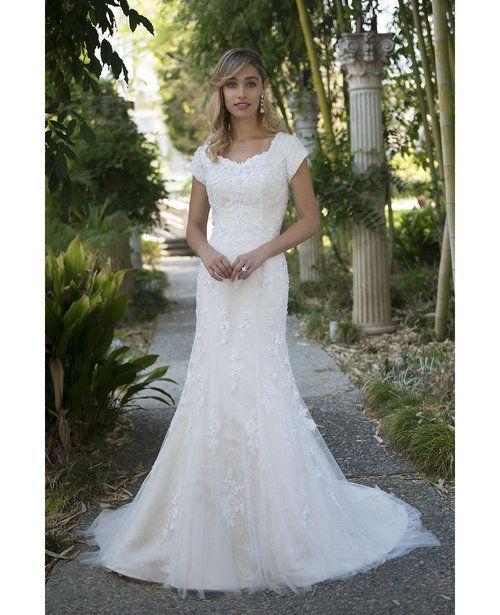 Allure Modest Wedding Gowns: Venus TB7706 Modest Wedding Dress