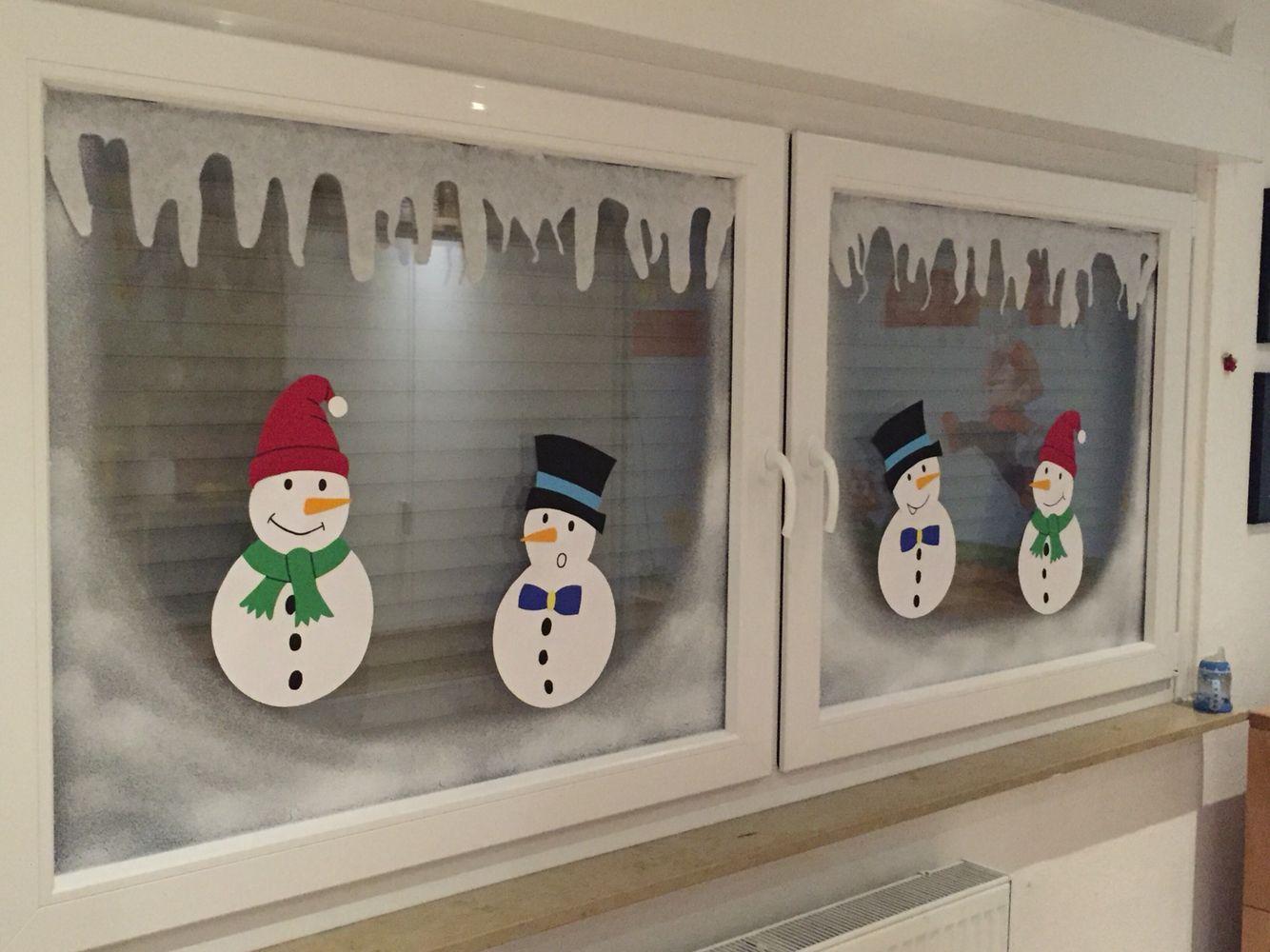 Die fensterbilder im kinderzimmer zur winterzeit sind for Fensterbilder kinderzimmer