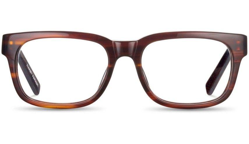 Beckett Striped Chestnut Eyeglasses, Warby Parker