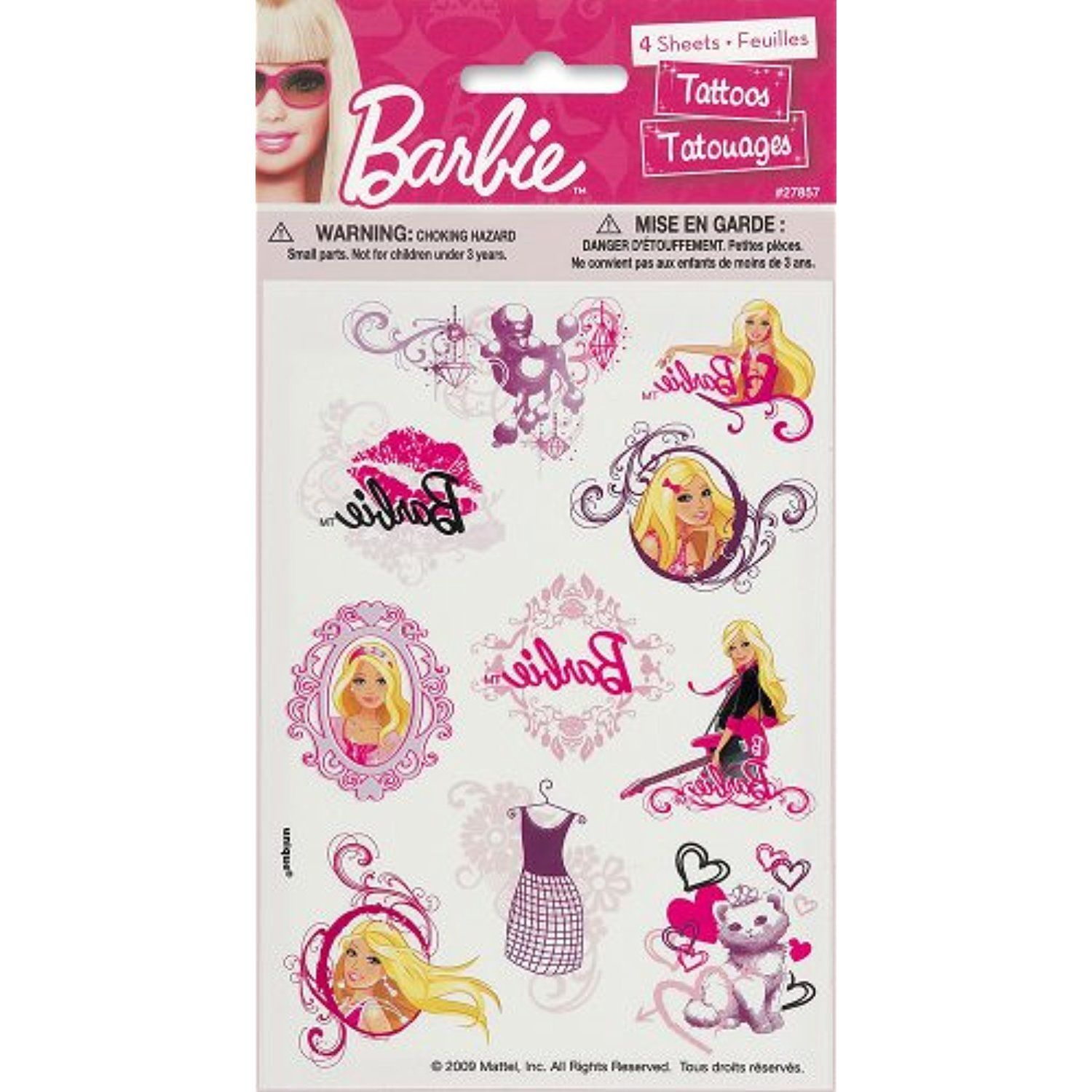 Barbie temporary tattoo sheets 4ct you can get