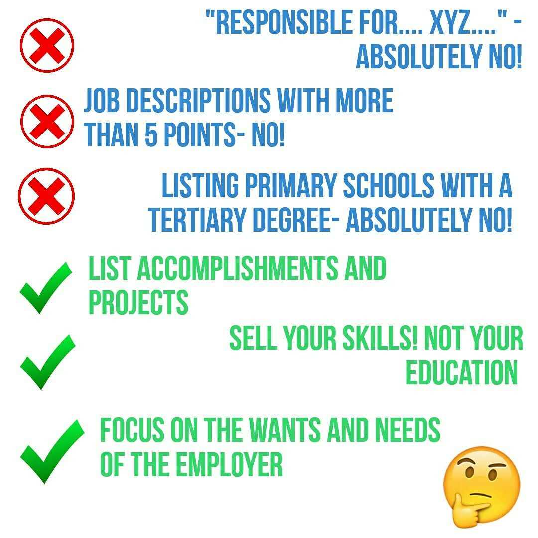 Some simple do's and don't of professional resume building