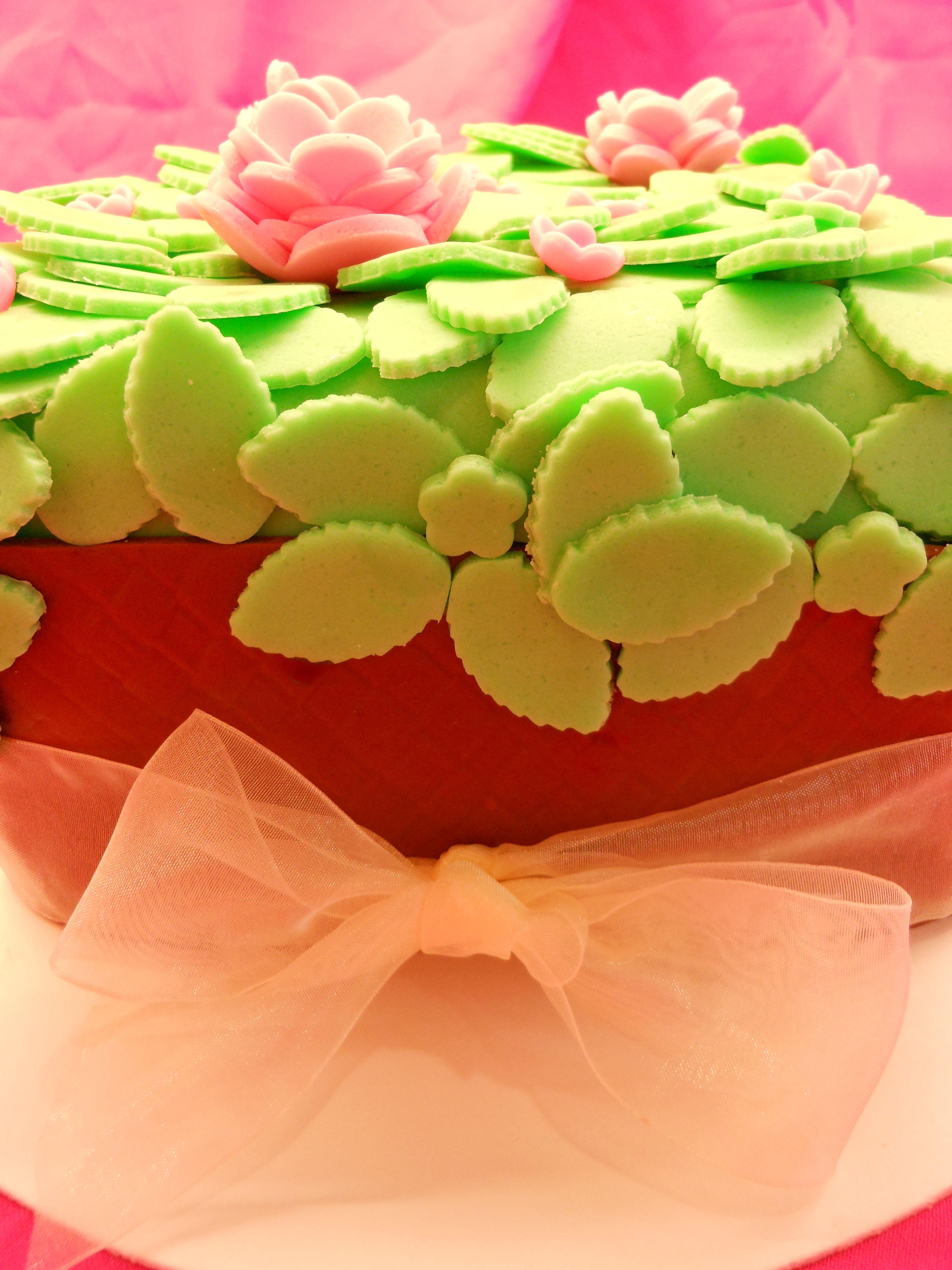 Arreglo floral comestible. Menta con chocolate