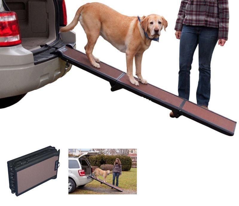 Folding Dog Ramp Tri Fold Pet Ramps For Suv Cars Supports Up To
