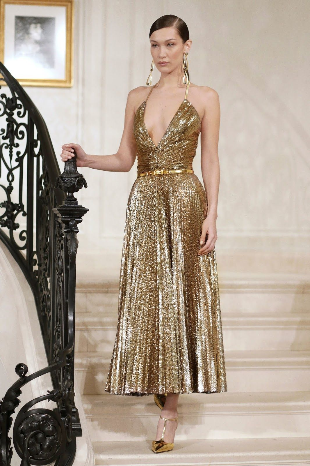 Ralph Lauren Spring 18 RTW - In love with  Golden dress