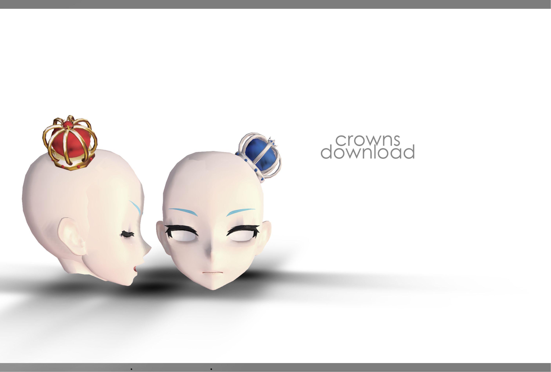 DL: Crowns by Jjinomu on @DeviantArt   mmd models   Crown