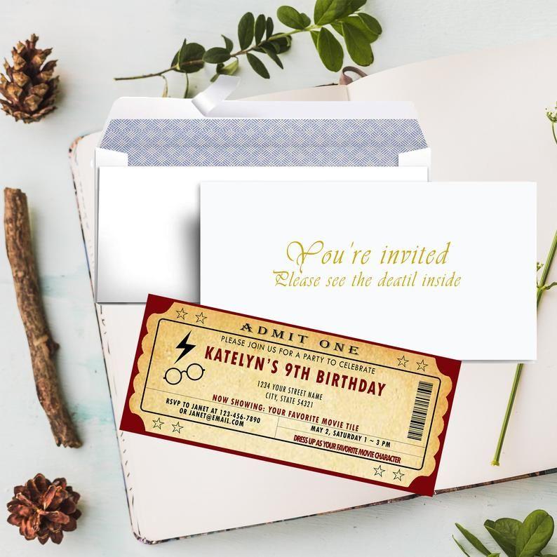 Custom Admission Tickets Movie Ticket Birthday Invitations Etsy Movie Ticket Birthday Invitations Movie Ticket Invitations Movie Tickets