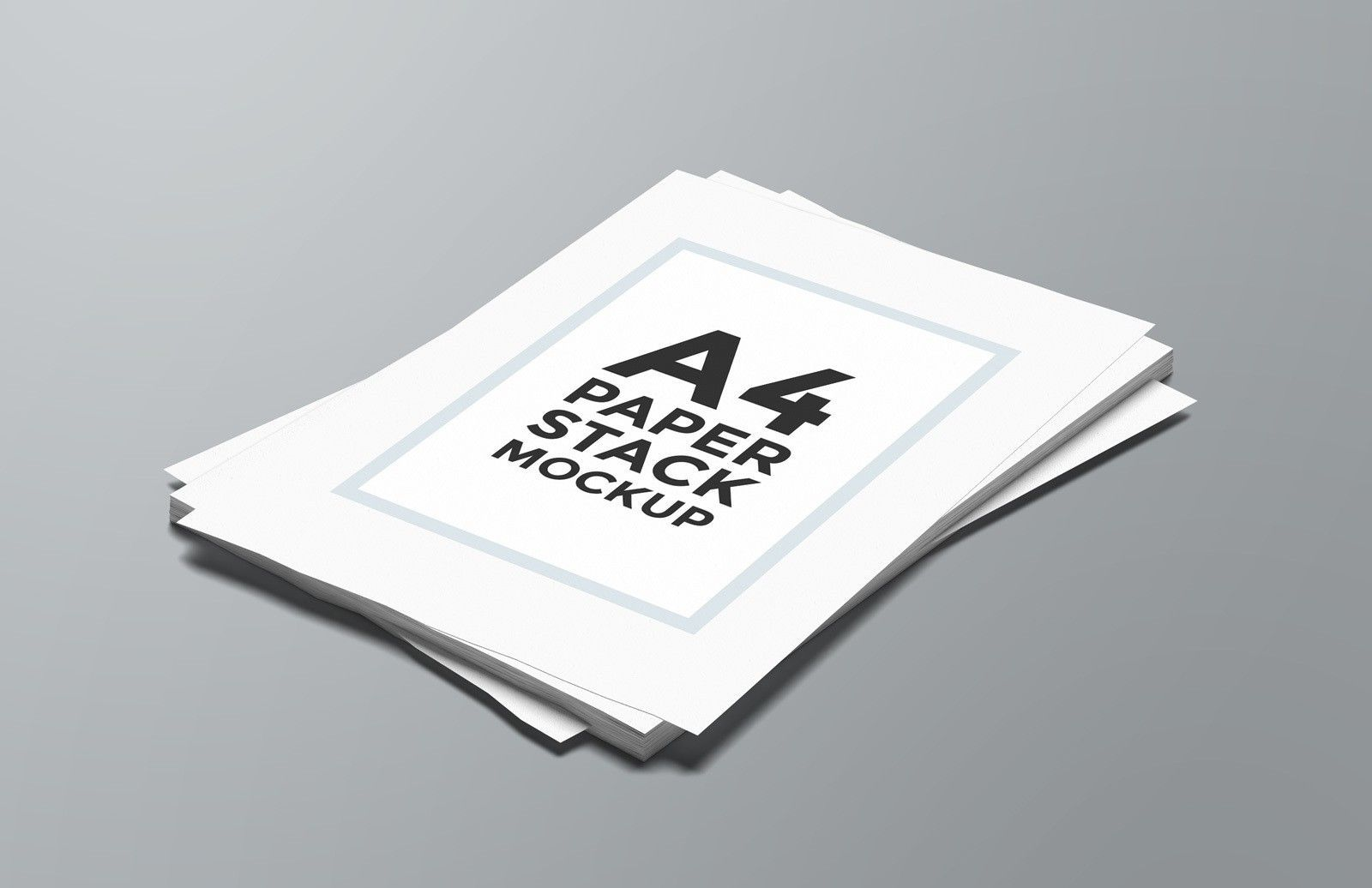 This Realistic A4 Paper Stack Mockup For Photoshop Is Ideal To Display Any Kind Of Printed Material That You Want To Sh A4 Paper Portfolio Design Layout Paper