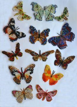 New! 13 African Lepidopteras from Katherina Kostinsky, courtesy of Bead Patterns magazine: http://www.bead-patterns.com/shop/shop.php?method=itemnumber=17989