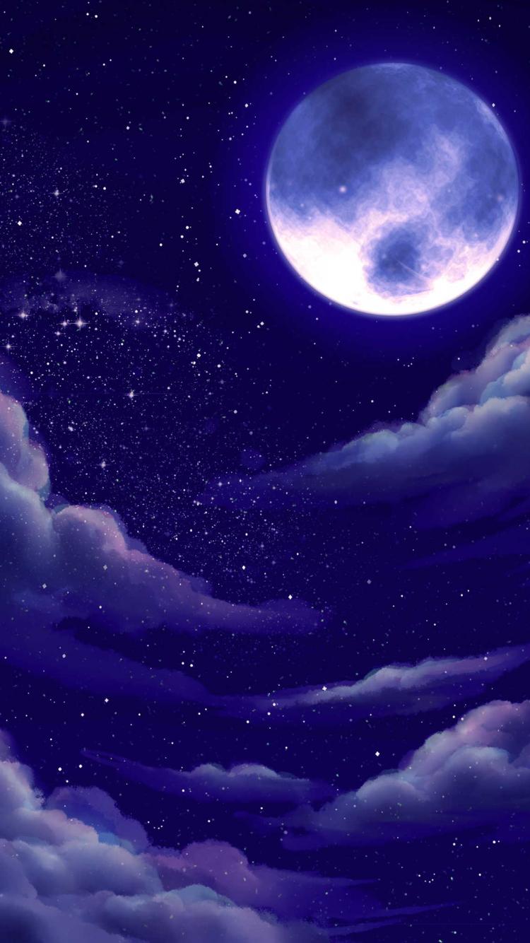 Wallpaper By Artist Unknown Moon Painting Moon Art Galaxy Art