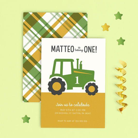 John Deere Invitation John Deere Birthday Invitation Tractor