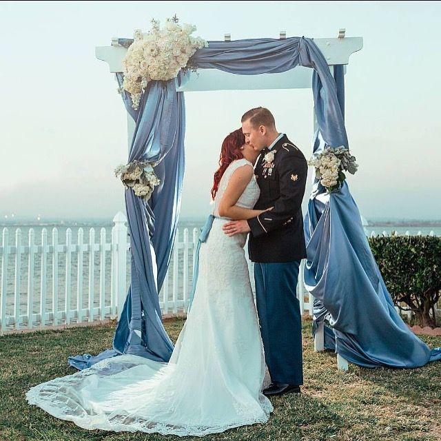 Vintage Style Wedding Arch Venue Coronado Cays Yacht Club