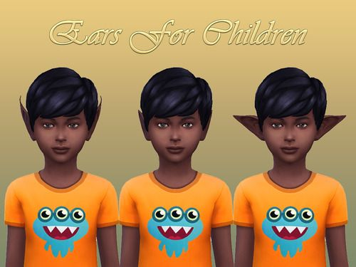 Ears For Children Sims 4 Cc Eyes Sims 4 Pixie Ears