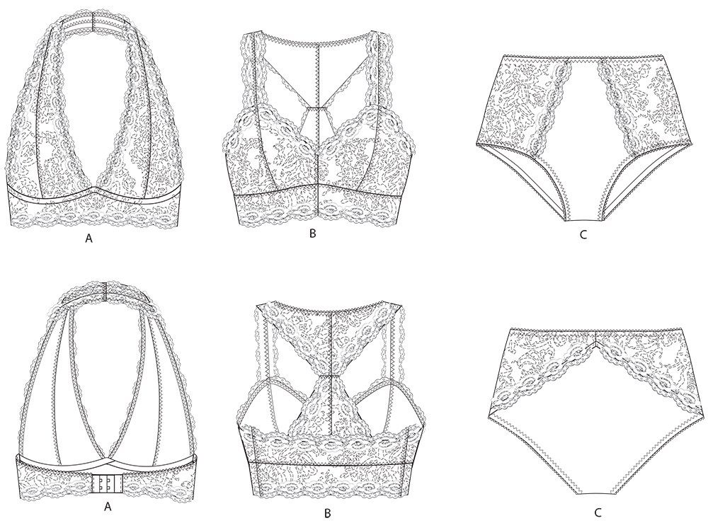 Madalynne Intimates Lingerie Bralettes To Buy And Sew Pretty New Lingerie Patterns