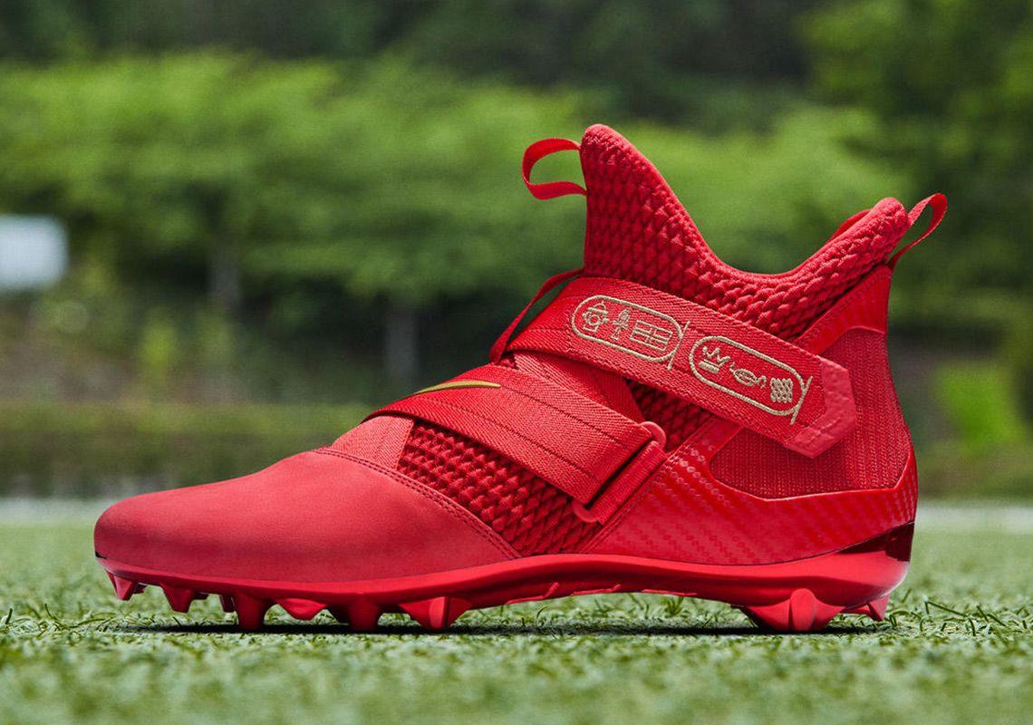 Obj Nike Lebron Soldier 12 Mnf Cleats Custom Football Cleats Odell Beckham Jr Beckham Jr