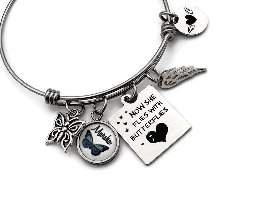 Memorial Bracelet With Erfly Charm