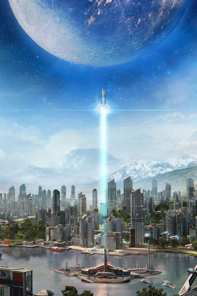 Scifi City Wallpaper Cityscape Iphone