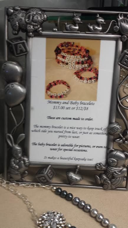 Handmade Mommy & Me keepsake bracelets available at The Sand & Stone Gallery in Holland, MI. 616-396-9808.