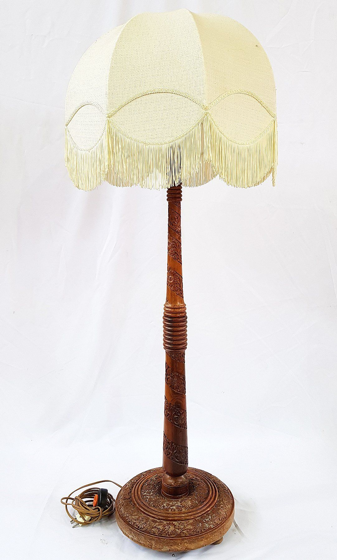 Where learn Antique candelabra floor lamp metal and wood