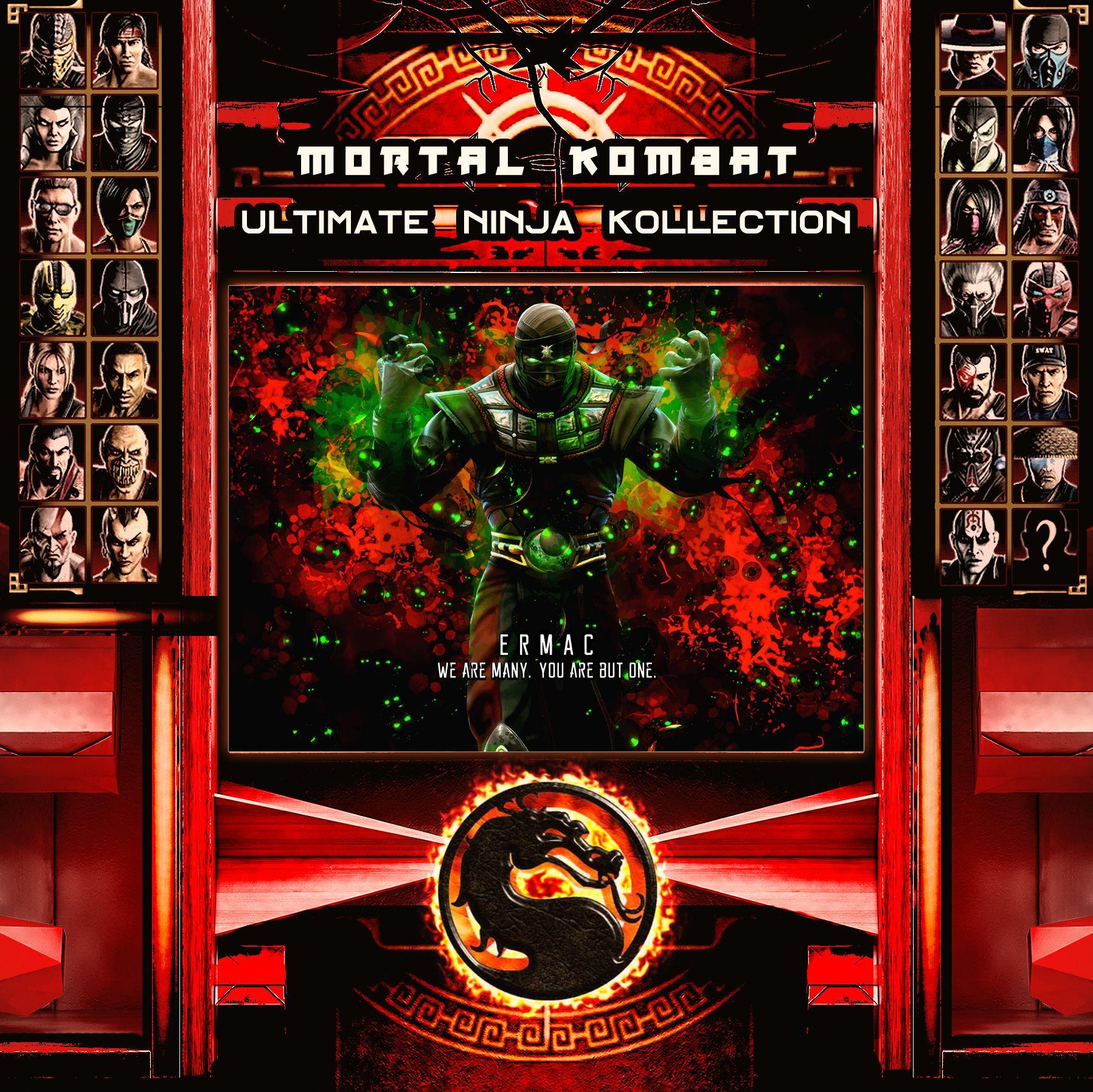 Mortal Kombat Ultimate Ninja Collection Ermac Metal Print | Displate thumbnail