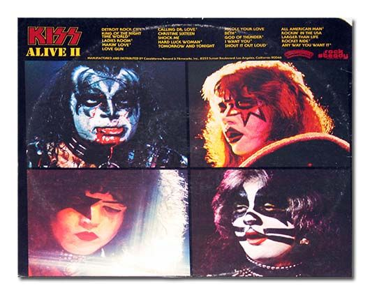 Back Cover Photo Kiss Alive Ii Kiss Album Covers Kiss Rock
