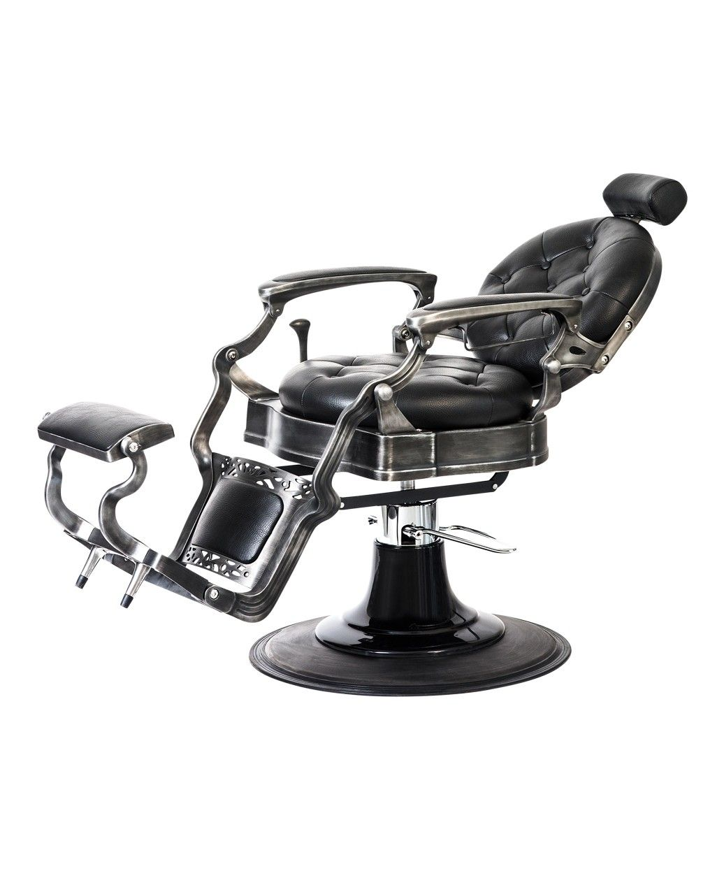 Alesso Professional Barber Chair is part of Barber chair - Take yourself on a trip down memory lane with the vintage inspired Alesso Professional Barber Chair  It's 50'sstyle design is sure to give a cozy vintage feel to any barber shop or salon, and this chair is built with topoftheline qualit