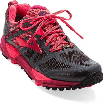 d7e8b0011fb Brooks Women s Cascadia 11 GTX Trail-Running Shoes Anthracite Teaberry 8