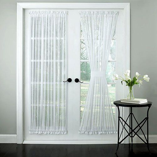 Harmony Slubbed Semi Sheer Door Curtain Panel Panel Curtains Curtains Panel Doors