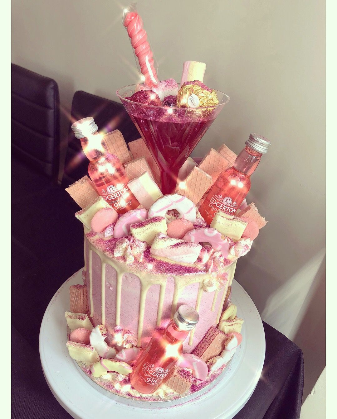 Magnificent Gin Cake 21St Birthday Cakes 25Th Birthday Cakes Adult Funny Birthday Cards Online Elaedamsfinfo